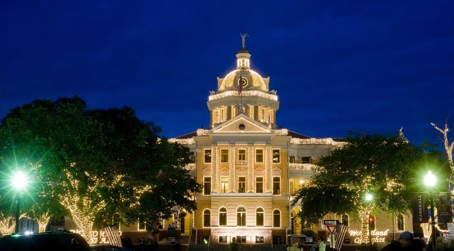 Historical Harrrison County Courthouse is the center stage event for 27th Annual Wonderland of Lights Festival that begins Novembe 27